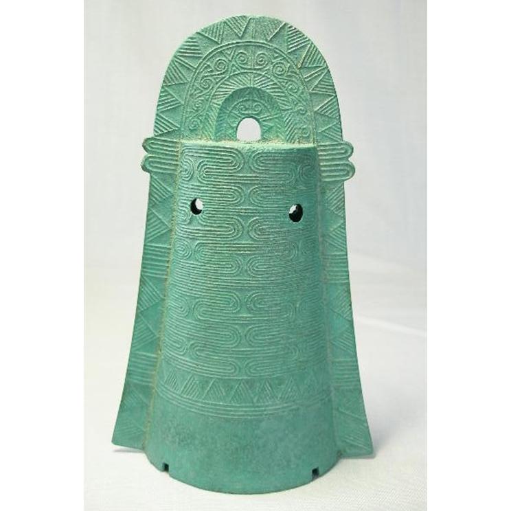 ミニ銅鐸流水紋(青色)
