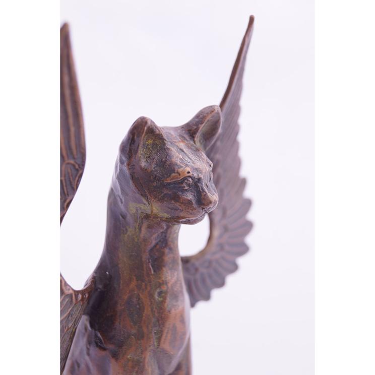 青銅置物 「聖ニャンコ像」